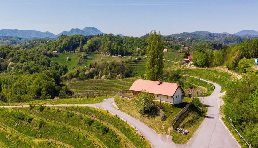 Wine-making museum in Gorca surrounded by vineyards